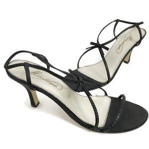 Michaelangelo Black Sandal Heel Dress Shoes P0278